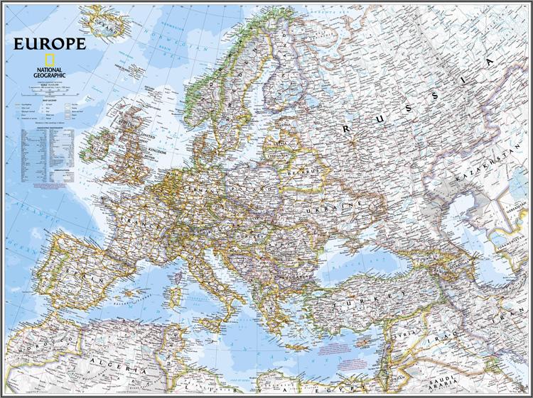 офис холст карта европы
