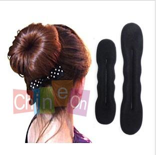 2pcs /lot Women's Magic Foam Sponge Hairdisk Hair Device Donut Quick Messy Bun Updo Headwear(China (Mainland))