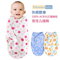Newborn Vitaminsbaby Coral Fleece Sleeping Bag Baby Swaddle
