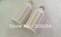Free shipping LED Corn lights 5050 SMD 15w 86pcs E 27 base 220V white or warm white color