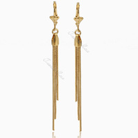 Womens Ladies earrings Dangling Fringe Gold Filled Leverback Earrings Wholesale fashion earrings GE42