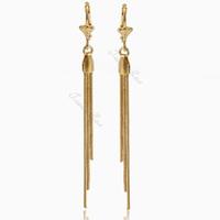 Womens Ladies earrings Dangling Fringe Gold Filled Leverback Earrings Wholesale fashion earrings GE42
