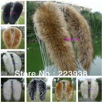 Hot Selling! Winter Women's Faux Fur Scarf Raccoon Fur Cap Fur Collar False Collar Scarves