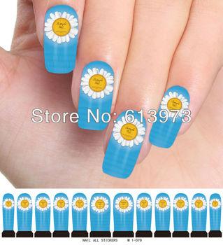 10Sheets Free Shipping Nail Stickers All Nail art Water transfer printing sticker M1-079