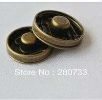 Free shipping high quality 15mm brass snap button antique brass fastener 30pairs/lot