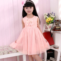 2013 children's clothing summer girl child skirt summer Beautiful princess elegant dress child one-piece dress tulle dress