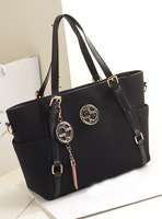 2013 women's handbag vintage bag nubuck leather bag black handbag cross-body women's bags