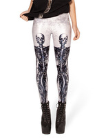 Sexy Wholesale 2013 Fashion Galaxy Digital Printing MECHANICAL MERMAID WHITE LEGGINGS For Women S106-391