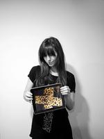2013 leopard print cross short-sleeve cotton t-shirt black