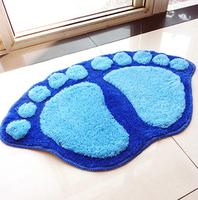 Brand New Free Shipping Novelty Lovely Big Feet Suction Pad Bathroom Mat Carpet Mat Door Mat Drop Shipping