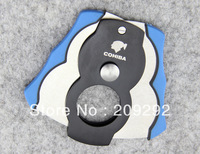 Blue 2-blade Cigar Cutter With Gift Box JT-623