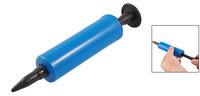Blue Black Plastic Manual Ball Football Balloon Inflator Air Pump