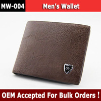 SuperDeals Men Solid Color Genuine Leather + PU Bi-fold Open Wallets Boy's Purse Bag