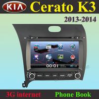 "7""  CAR DVD PLAYER autoradio GPS navigation  for Kia Cerato K3 Forte  2013 2014  / Russian language  / 3g internet"