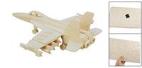 Child Woodecraft DIY Hornet Bomber Model Wooden Construction Kit Puzzle Toy