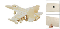 Child Woodecraft DIY Hornet Bomber Model Wooden Construction Kit Puzzle Toy