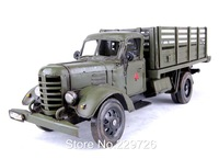 Hand Made Metal Truck Model Toy in Green color Free Shipping