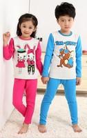2013 New Arrival Fashion Family Suits Children's Sleepwear Child Underwear Clothing Set Boys & Girls Cartoon Pajamas Sets Size L
