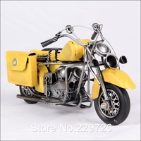 Hand Made Metal Vintage Motocycle Model Toy with 4 color available Free Shipping