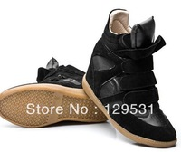 Free Shipping Stars explode sneakers leisure shoes velcro Increased color matching boots size 34 35 36 37 38 39 40 41 42 A1