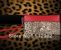 Fashion leopard handbag Wallet , long  clutch Wallet bag,  PU 2013 New style
