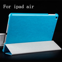 10pcs/lot  Thin PU Leather case for iPad Air ipad5 Luxury stand Smart Cover Magnetic for ipad 5 with free shipping