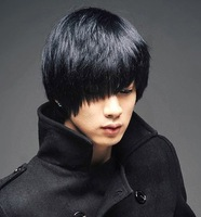 Male wig stubbiness boys wig style oblique fluffy bangs wig handsome