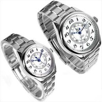 Free shipping 1pair fashion elegant white & black  couples watch men and ladies watches