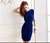Personalized 2013 gentlewomen oblique sexy one shoulder slim hip dress one-piece dress