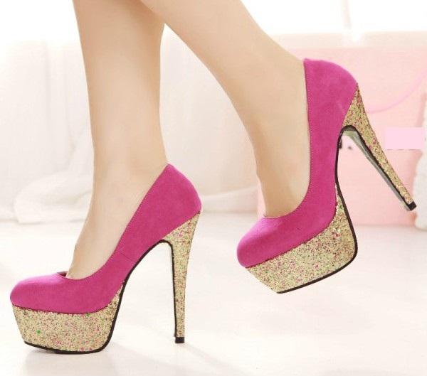 Wonderful 2014 Women High Heel Pumps Stiletto Pointy Pigalle Shoes Red Botton