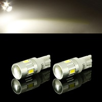 T10 1W 80lm 6200K 6-SMD 5730 LED White Car Signal Light (12~14V)