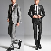 Commercial male suit male suits slim outerwear formal groom wedding dress