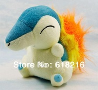 "Wholesale promotion 15cm 10pcs/lot High quality Pokemon Pikachu Soft Plush Doll toys Japanese anime 6"" Cyndaquil PB21"