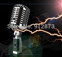 1 piece Free Shipping Pink Classical Retro Microphone Swing Bracket MIC Singing KTV Megaphone