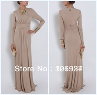 Formal Evening Dresses With long Sleeves Superb Women's Elie Saab Scoop Pleat Evening Gown Free Shipping 3956