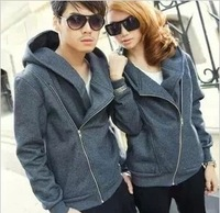 2013 autumn and winter lovers class service school uniform personality oblique zipper long-sleeve outerwear thick fleece