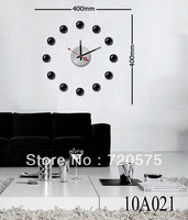 DIY Large Vinyl Designer Decor Wall Clock Sticker Mural Art Decals 10A021 Free Shipping