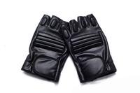 5pcs Men's leather sport half finger men bodybuilding training sheepskin slip protective gloves fingerless mitts cycling