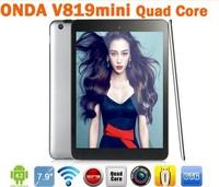 In stock Onda V819 3g Mini Allwinner A31s Quad Core tablet pc 7.9'' IPS Capacitive Android 4.1 1/16GB HDMI 5.0MP Dual Camera