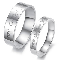 One PCS Femal  Love Wedding Married Stainless Steel Ring Size Number Femal 7 Free Shipping