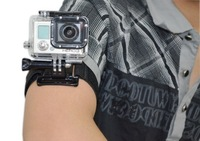 Black Nylon Velcro Armband Wristband Wrist Belt Strap Buckle Diving for GoPro Hero 2 3 3+ Free Shipping