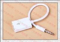 Usb 3.5mm usb flash drive 12v car cd machine car aux audio cable trainborn mp3 adapter cable