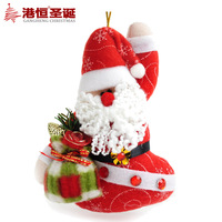 Christmas tree decoration 14 10cm plush fabric santa claus doll 10g