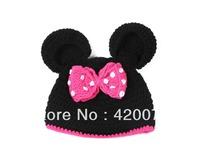 New Arrival Minnie Crochet Hat For Baby Handmade Hat For Girls Infant Knitting Hot For Winter  XDT-035#