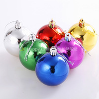 4cm5cm6cm8cm10cm christmas ball plastic ball holiday decoration christmas decoration supplies 6