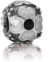 Wholesale - European Jewelry 925 Sterling Silver bead charm Free shipping Fit Bracelet mix style 50pcs/lot  YZ082