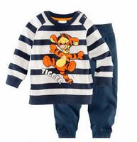 Fashion cartoon pajama kids children boys long john pjs,autumn winter pyjamas,toddler baby sleepwear nightwear clothing set