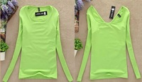 new 2013 Autumn and winter slim all-match  plus velvet female long-sleeve T-shirt turtleneck top basic shirt