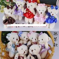 free shipp ,new arrival , 12pcs/set, bear toy , bear rag doll  size:12cm