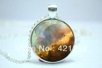 10pcs/lot Omega Nebula Necklace, Galaxy Jewelry, Universe Pendant  Jewelry Glass Cabochon Necklace